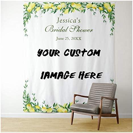 Shop Three Custom Wall Tapestry Backdrop Decorations Custom Wedding Tapestry Custom Family Memories product image