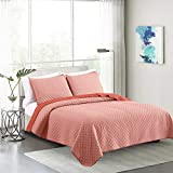 """ARTO Mosto Cotton-Linen Blend Yarn Dye Chambray Machine Quilted and Prewashed 3PC Oversized All-Season Luxury Quilt Set/Coverlet Set/Bedcover Set/Bedspread Set. King: 110""""x96""""/20x36"""""""