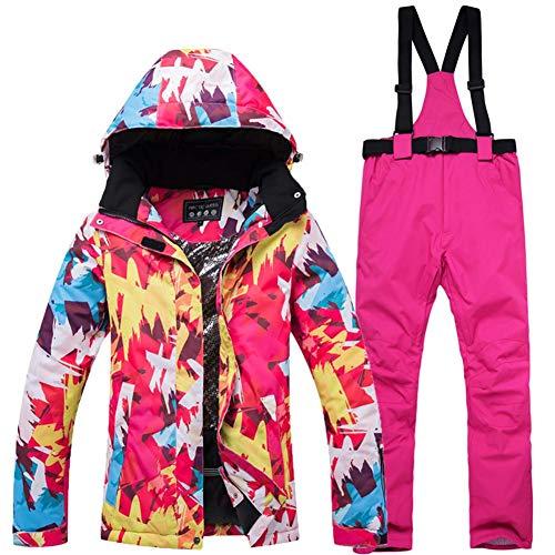 shewt Damen Skianzug wasserdicht und Winddicht Tops und Hosen Set für Frauen warme Schneeanzug Erwachsene