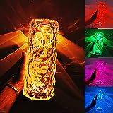 ZXZCHGN Lámpara de mesa de cristal diamante, lámpara de cristal ajustable de 16 colores, USB Lámpara de proyección de poste de cristal Lámpara de mesa de diamante acrílico Fondo de llenado de fondo, a