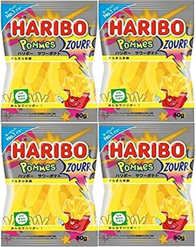 HARIBO ハリボー サワーポテト 80g ×4 (2020年発売)