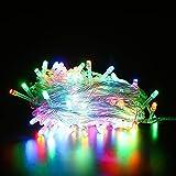 Decorazione natalizia Luci a fune Luci decorative Luci a filo Luci per interni ed esterni Luci estensibili Parco Giardino Patio Decorazione camera da letto Striscia led (multicolore)