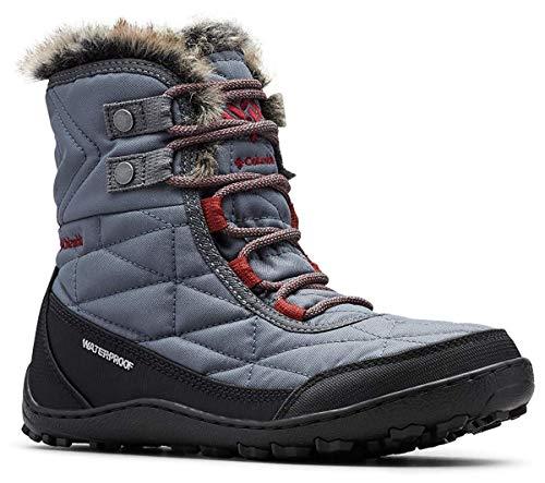 Columbia Women's Minx Shorty III Ankle Boot, Graphite, deep Rust, 10 Regular US