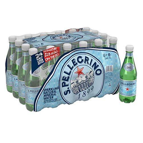 S.Pellegrino Sparkling Natural Mineral Water, [24 Count] 16.9 fl oz. Plastic Bottles (Pack of 2)