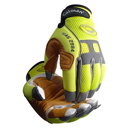 Caiman 2984-5 Rappelling & Rope Handling Glove with Goatskin Palm