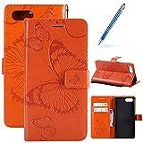 Robinsoni Coque pour Huawei Honor V10 Housse de téléphone en Cuir,Jolie Papillon Femme...