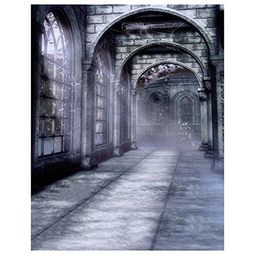 SODIAL(R) Halloween Geheimnisvolle Szene Gotik gewoelbt Architektur Bogen Tuer Fotografie Kulissen...