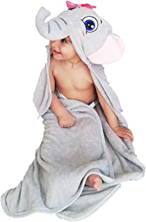 OzzieProBaby&co Organic Bamboo Hooded Baby Towel – Ultra Soft and Super Absorbent Baby Bath Towels for Newborns, Infants and Toddlers – Suitable as Baby Gifts