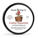 Beach & Dog Co Canine Sunscreen - Zinc and Titanium Dioxide Free - All Natural and Organic Formula for Dogs