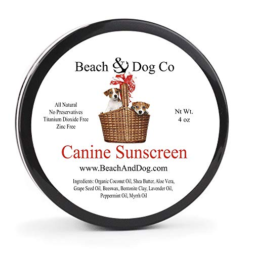 Beach & Dog Co Canine Sunscreen – Zinc and Titanium Dioxide Free – All Natural and Organic Formula for Dogs
