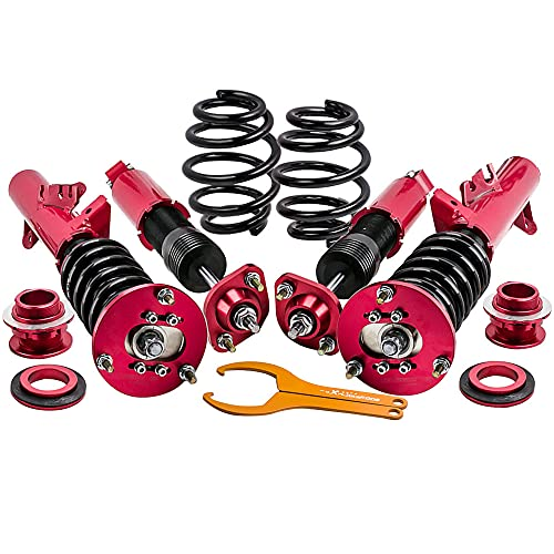 Coilovers Shock Suspension for BMW E36 (1992-1999) 318i 318is 318ic 323i 323ic 323is 328i 328is 328ic M3 - Red