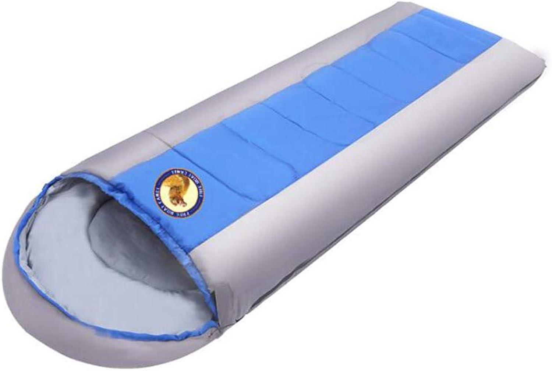 HRFHLHY Warmer Herbst-und Winterdicksack Outdoor Camping Erwachsener Schlafsack,Blau B07MRB3D6L B07MRB3D6L B07MRB3D6L  Ausgezeichnete Leistung 15a1a7