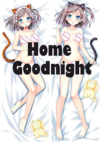 Home Goodnight Tsukiko Tsutsukakushi - The Hentai Prince and The Stony Cat 150 x 50cm(59in x 19.6in) Peach Skin Kissenbezüge
