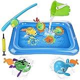 BBLIKE Juguete de Pesca para Niños, Juguete de la Flotando Pesca Conjunto para Niños, Juguetes de Piscina & Bañera para Niños