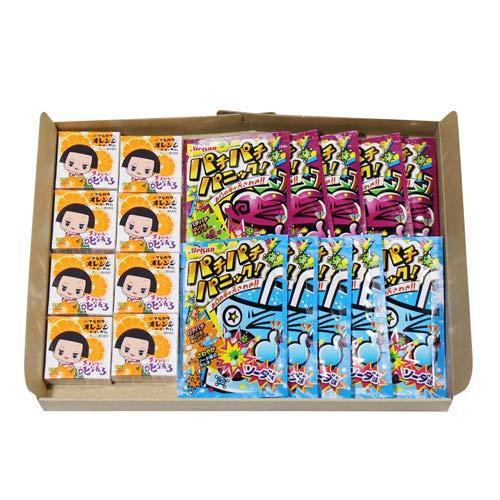 チコちゃん オレンジガム(8コ)& パチパチパニック2種(各5コ・計10コ)セット