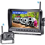 Rohent R9 HD 1080P RV Wireless Backup Camera with 7 Inch DVR Monitor High-Speed Rear View Observation System for Trucks,Trailers,5th Wheels Super IR Night Vision IP69K Waterproof 170 Degree View Angle