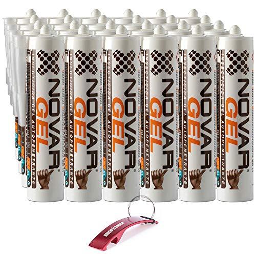 Bricolemar NOVAR - Pack Gel Bois Novar Kabra (24 Unités de Gel Insecticide Écologique Anti-Carcome)