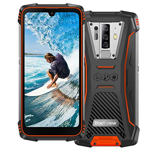 4G Rugged Phones Unlocked, Blackview BV6900 (2020) IP68 Waterproof Rugged Smartphones, Android 9.0 Octa-core 4GB+64GB ROM, 16MP Five Camera 5.84
