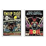 2 Art-Poster, 30 x 40 cm – Snoop Dr. Dre Comics – David