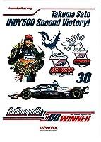 ステッカー:佐藤琢磨 2020年 インディ500 優勝記念 Takuma Sato INDY500 Second Victory! ホンダ