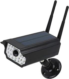 Lixada Luz LED Solar de Cámara Falsa de Seguridad Luces de Jardín al Aire Libre con Energía Solar Lámpara de Sensor de Movimiento RIR IP65 Impermeable para Jardín Garaje Portón