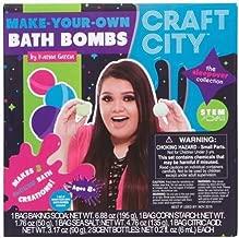 Craft City Karina Garcia DIY Make Your Own Bath Bomb Kit | Makes 3 All-Natural Bath Bombs | Sleepover Collection | Sphere & Teddy Bear Bath Bomb Molds | Lavender & Jasmine Scents | Multi-Colored