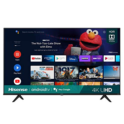 Hisense 65A6G 65-Inch 4K Ultra HD Android Smart TV with Alexa Compatibility (2021 Model)