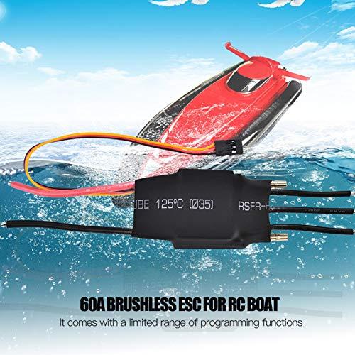 Boat Esc con una gama limitada de funciones de programación Esc refrigerado por agua Disipa el calor Diseñado para el modelo de barco Rc