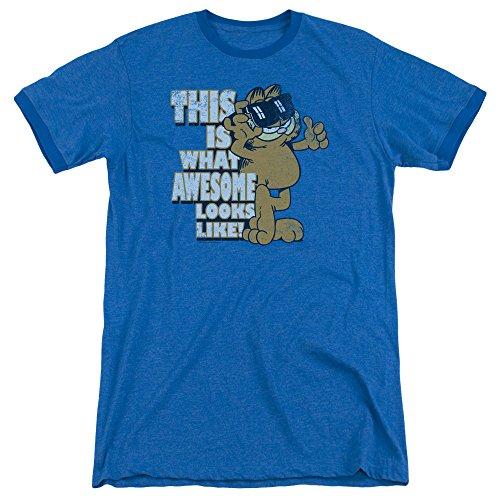 Garfield Das ehrfürchtige Wecker-T-Shirt der Männer, Large, Royal Blue