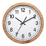 Nuovo - Reloj de pared moderno de 25,4 cm, silencioso, sin tictac, para sala de estar, dormitorio,...