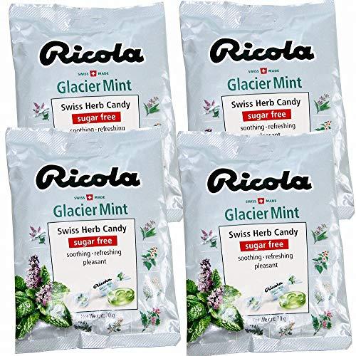 リコラ グラッシャーミント ハーブキャンディー 1袋70g 4袋セット 【スイスハーブキャンディー】【リコラ】 合成香料着色不使用