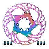 Bigking Disco Freno, Disco Freno per Bicicletta da Mountain Bike Rotori di Raffreddamento flottanti 5 perni 140mm Accessori per Ciclismo(Colorato)