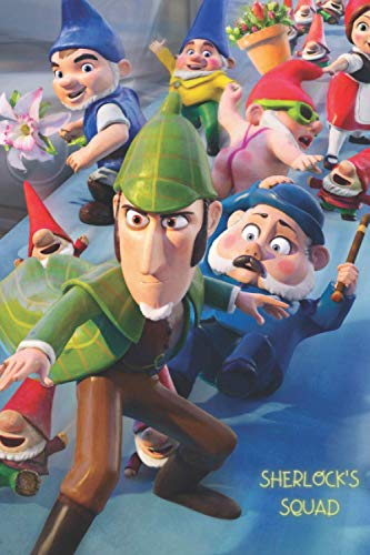Sherlock's Squad: Amazing Sherlock Gnomes Cover On Your Notebook From Now On. 120 Pages. Soft cover.