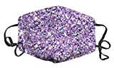 WuCong Facial Decorations Shield Comfortable Cotton Washable Reuseable Anti Dust Mask Sport Masks Protective (Lilac glitter with color highlights)