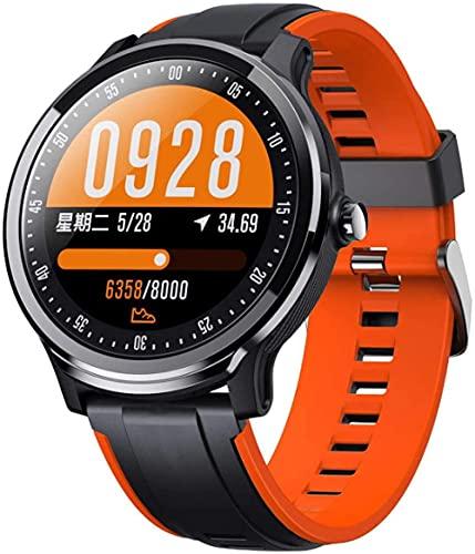 Reloj inteligente de moda, modo multideporte información llamada recordatorio sueño monitoreo tracker-naranja