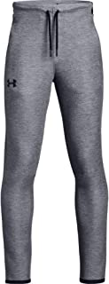 Under Armour Boys Unstoppable Move Lite Pants, Black Light Heather//Black, Youth