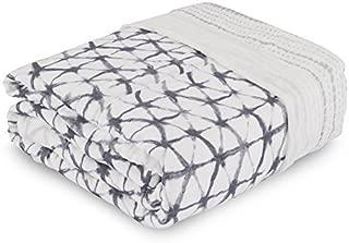 aden + anais Silky Soft Oversized Muslin Blanket, Pebble Shibori