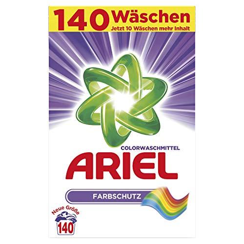 Ariel Colorwaschmittel Pulver Farbschutz, 9,1kg– 1er Pack (1 x 140 Waschladungen)