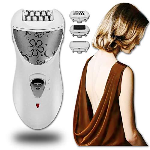 NoNo Epilierer 3 in 1 Akku-Lady Shaver wiederaufladbare Epilierer Frauen Laser Haarentferner Bikini Trimmer Epilation und Haarentfernung für Frauen Hautpflege