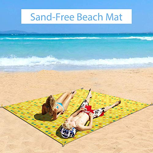 Check Out This MTDKX Large Waterproof Outdoor Picnic Blanket, Simple and Vivid Artistic Repetition o...
