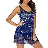 Women's Two Piece Swimdress,Mitiy V-Neck Tummy Control Swimwear...