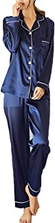 Women's Nightgown Soft Satin Lounge Pajamas Two-Piece Set