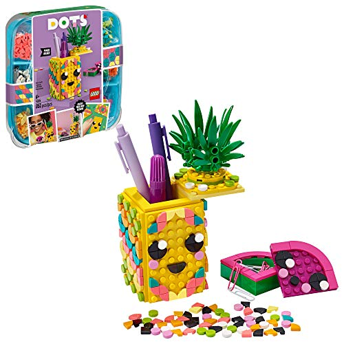 LEGO DOTS Pineapple Pencil Holder 41906 DIY Craft Decorations Kit, A Fun Craft kit for Kids who Like Arts and Crafts Projects, That Also Makes a Great Holiday or Birthday Gift (351 Pieces)