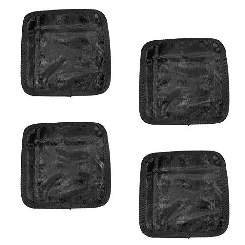 MagiDeal 4 Stück Tasche für Bleigürtel Tauchgürtel Tauchen Schnorcheln Bleigurt Zusätzliche 20KG Tauchgewichte Taschen