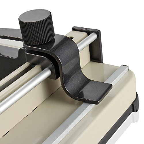 """Flexzion Guillotine Paper Cutter 17"""" A3 Professional Industrial Heavy Duty Scrapbooking Metal Base Trimmer Machine 400 Sheet Capacity for Office Commercial Photocopy Printing Shop"""