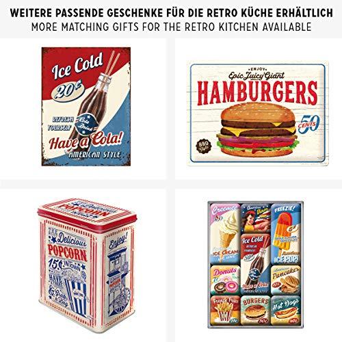 Nostalgic-Art Cartel de Chapa Retro USA – Milkshake – Idea de Regalo para la...