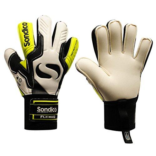 Sondico Unisex Aquaspine Torwart Handschuhe Weiß/gelb UK 10