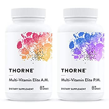 Thorne Research - Multi-Vitamin Elite - A.M and P.M Formula to Support a High-Performance Nutrition Program - 180 Capsules