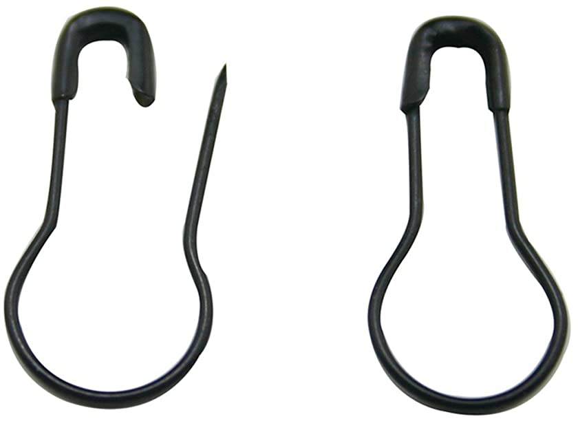 La Tartelette Safety Pins/Gourd Pin/Bulb Pin/Calabash Pin Bead Needle Pins DIY Home Accessories, Metal, Black, 8 inches, Pack of 300