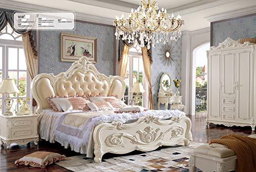 JVmoebel Chesterfield - Cama de matrimonio de piel auténtica Palast Hotel 910